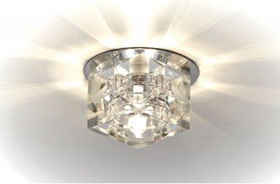 Встраиваемый светильник Ambrella D605 CL/CHВстраиваемые хрустальные светильники<br>Встраиваемые светильники – популярное осветительное оборудование, которое можно использовать в качестве основного источника или в дополнение к люстре. Они позволяют создать нужную атмосферу атмосферу и привнести в интерьер уют и комфорт.   Интернет-магазин «Светодом» предлагает стильный встраиваемый светильник Ambrella D605 CL/CH. Данная модель достаточно универсальна, поэтому подойдет практически под любой интерьер. Перед покупкой не забудьте ознакомиться с техническими параметрами, чтобы узнать тип цоколя, площадь освещения и другие важные характеристики.   Приобрести встраиваемый светильник Ambrella D605 CL/CH в нашем онлайн-магазине Вы можете либо с помощью «Корзины», либо по контактным номерам. Мы развозим заказы по Москве, Екатеринбургу и остальным российским городам.<br><br>S освещ. до, м2: 2<br>Тип лампы: галогенная<br>Тип цоколя: gu5.3<br>Цвет арматуры: серебристый<br>Количество ламп: 1<br>Диаметр, мм мм: 70<br>Диаметр врезного отверстия, мм: 55<br>Высота, мм: 45<br>MAX мощность ламп, Вт: 40