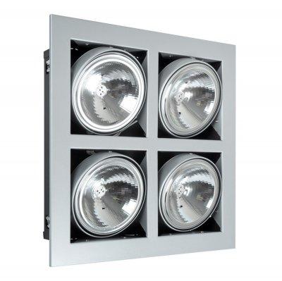Светильник галогенный DAR MQ202A1-L4 X 12v 20/75w G5,3/6,35 белыйКарданные<br>Светильник галог. С.Г.DAR MQ202A1-L4 X 12v 20/75w G5,3/6,35 перл.хром, без ламп<br><br>S освещ. до, м2: 15 - 20<br>Тип лампы: галогенная MR111<br>Количество ламп: 4<br>Ширина, мм: 340<br>MAX мощность ламп, Вт: 75W<br>Диаметр врезного отверстия, мм: 285*285<br>Длина, мм: 340<br>Цвет арматуры: перламут-хром