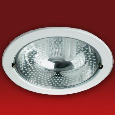 Светильник встраиваемый DC702C под энергосб. лампу белыйДаунлайты<br>Светитильник С.Л. DC702C встраиваемый 2*26w E27 б/л, белый<br><br>Диаметр, мм мм: 230<br>Диаметр врезного отверстия, мм: 200