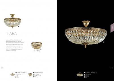 Люстра Maytoni DIA500-CL-40-06-G TiaraОжидается<br><br><br>Тип цоколя: E14<br>Цвет арматуры: золотой<br>Количество ламп: 6<br>Диаметр, мм мм: 455<br>Оттенок (цвет): золотой<br>MAX мощность ламп, Вт: 60