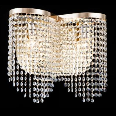 Бра Maytoni DIA600-02-G ToilsХрустальные<br><br><br>Тип лампы: накаливания / энергосбережения / LED-светодиодная<br>Тип цоколя: E14<br>Количество ламп: 2<br>MAX мощность ламп, Вт: 60<br>Диаметр, мм мм: 405<br>Высота, мм: 350<br>Цвет арматуры: золотой
