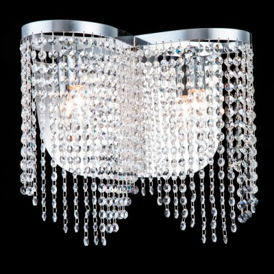 Бра Maytoni DIA600-02-N ToilsХрустальные<br><br><br>Тип лампы: накаливания / энергосбережения / LED-светодиодная<br>Тип цоколя: E14<br>Количество ламп: 2<br>MAX мощность ламп, Вт: 60<br>Диаметр, мм мм: 405<br>Высота, мм: 350<br>Цвет арматуры: серый