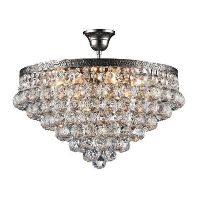Люстра Maytoni DIA783-CL46-6-N Galaхрустальные потолочные люстры<br><br><br>S освещ. до, м2: 18<br>Тип лампы: Накаливания / энергосбережения / светодиодная<br>Тип цоколя: E27<br>Цвет арматуры: серебристый никель<br>Количество ламп: 6<br>Диаметр, мм мм: 460<br>Высота, мм: 400<br>MAX мощность ламп, Вт: 60
