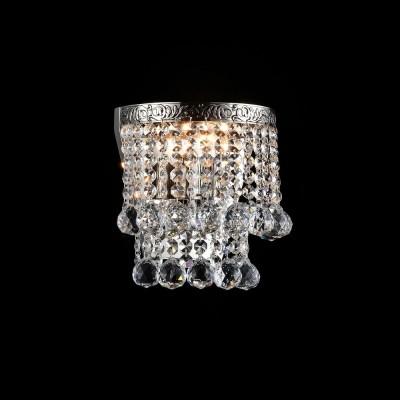 Бра Maytoni DIA783-WL-01-N GalaХрустальные<br><br><br>Тип лампы: Накаливания / энергосбережения / светодиодная<br>Тип цоколя: E27<br>Количество ламп: 1<br>Ширина, мм: 170<br>MAX мощность ламп, Вт: 60<br>Расстояние от стены, мм: 105<br>Высота, мм: 165<br>Цвет арматуры: серебристый никель