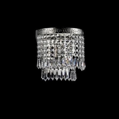 Светильник бра Maytoni DIA784-WL-01-N FabricХрустальные<br><br><br>Тип лампы: Накаливания / энергосбережения / светодиодная<br>Тип цоколя: E27<br>Количество ламп: 1<br>Ширина, мм: 185<br>MAX мощность ламп, Вт: 60<br>Глубина, мм: 125<br>Оттенок (цвет): серебристый никель<br>Цвет арматуры: серебристый никель