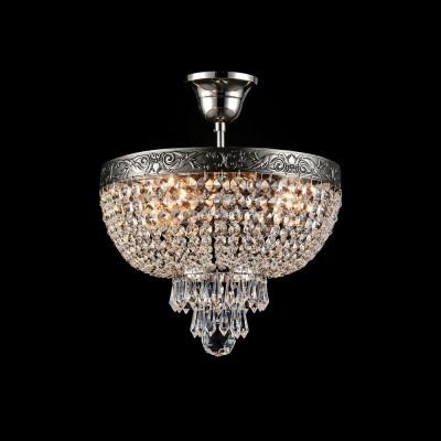 Люстра Maytoni DIA890-CL-04-N PalaceПотолочные<br><br><br>Тип лампы: Накаливания / энергосбережения / светодиодная<br>Тип цоколя: E27<br>Количество ламп: 4<br>MAX мощность ламп, Вт: 60<br>Диаметр, мм мм: 300<br>Высота, мм: 355<br>Цвет арматуры: серебристый никель