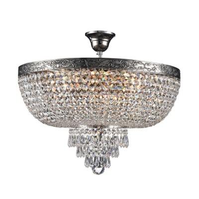 Люстра Maytoni DIA890-CL-06-N PalaceПотолочные<br><br><br>S освещ. до, м2: 18<br>Тип лампы: Накаливания / энергосбережения / светодиодная<br>Тип цоколя: E27<br>Цвет арматуры: серебристый никель<br>Количество ламп: 6<br>Диаметр, мм мм: 500<br>Высота, мм: 445<br>MAX мощность ламп, Вт: 60