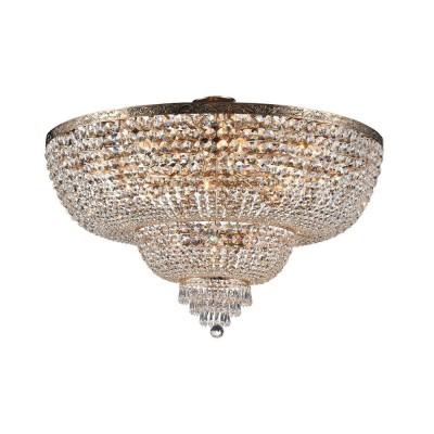 Люстра Maytoni DIA890-CL-18-G Palaceхрустальные потолочные люстры<br><br><br>S освещ. до, м2: 54<br>Тип лампы: Накаливания / энергосбережения / светодиодная<br>Тип цоколя: E27<br>Цвет арматуры: золотой<br>Количество ламп: 18<br>Диаметр, мм мм: 1000<br>Высота, мм: 688<br>MAX мощность ламп, Вт: 60