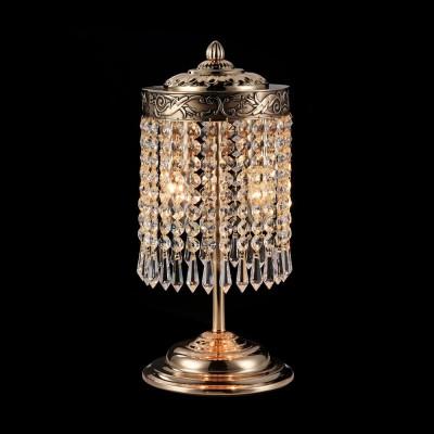Настольная лампа Maytoni DIA890-TL-02-G PalaceХрустальные<br><br><br>Тип лампы: Накаливания / энергосбережения / светодиодная<br>Тип цоколя: E14<br>Цвет арматуры: золотой<br>Количество ламп: 2<br>Диаметр, мм мм: 150<br>Высота, мм: 352<br>MAX мощность ламп, Вт: 40