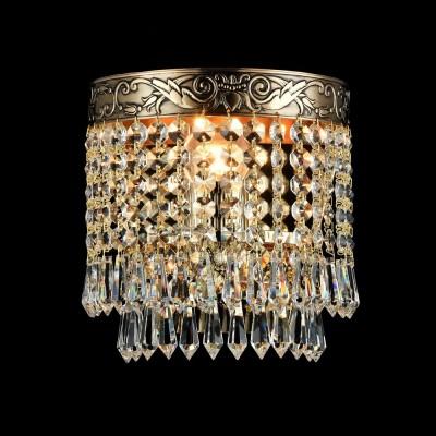 Бра Maytoni DIA890-WL-01-G PalaceХрустальные<br><br><br>Тип лампы: Накаливания / энергосбережения / светодиодная<br>Тип цоколя: E27<br>Количество ламп: 1<br>Ширина, мм: 170<br>MAX мощность ламп, Вт: 60<br>Расстояние от стены, мм: 119<br>Высота, мм: 184<br>Цвет арматуры: золотой