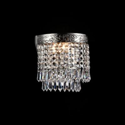 Бра Maytoni DIA890-WL-01-N PalaceХрустальные<br><br><br>Тип лампы: Накаливания / энергосбережения / светодиодная<br>Тип цоколя: E27<br>Количество ламп: 1<br>Ширина, мм: 170<br>MAX мощность ламп, Вт: 60<br>Расстояние от стены, мм: 119<br>Высота, мм: 184<br>Цвет арматуры: серебристый никель