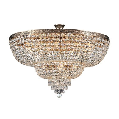 Люстра Maytoni DIA891-CL-14-G PalaceПотолочные<br><br><br>Тип лампы: Накаливания / энергосбережения / светодиодная<br>Тип цоколя: E27<br>Количество ламп: 14<br>MAX мощность ламп, Вт: 60<br>Диаметр, мм мм: 800<br>Высота, мм: 460<br>Цвет арматуры: золотой