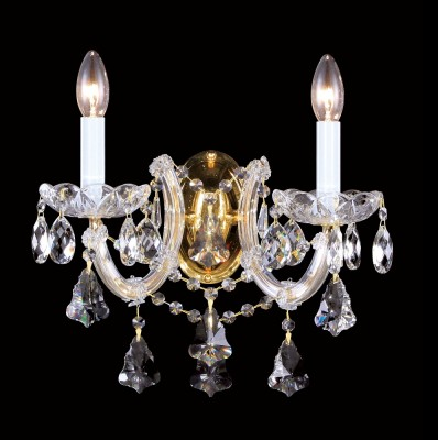 Светильник настенный бра Crystal lux DIVA AP2 1590/402хрустальные бра<br><br><br>Тип цоколя: E14<br>Цвет арматуры: Золотой/Прозрачный<br>Количество ламп: 2<br>Ширина, мм: 250<br>Длина, мм: 365<br>Высота, мм: 360<br>MAX мощность ламп, Вт: 40