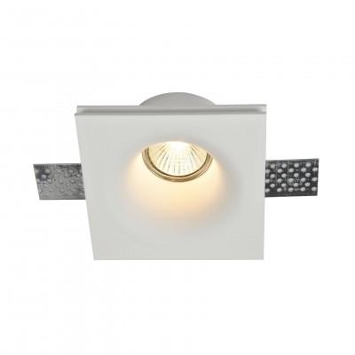 Встроенный светильник  Maytoni DL001-1-01-W GypsКвадратные<br><br><br>Тип лампы: галогенная/LED<br>Тип цоколя: GU10<br>Цвет арматуры: Белый<br>Количество ламп: 1<br>Ширина, мм: 120<br>Глубина, мм: 120<br>Высота, мм: 60<br>MAX мощность ламп, Вт: 35