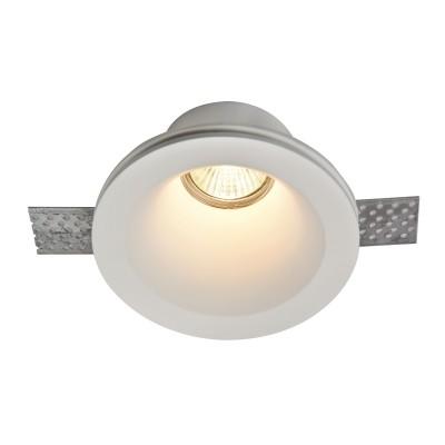 Встроенный светильник  Maytoni DL002-1-01-W GypsКруглые встраиваемые светильники<br><br><br>Тип лампы: галогенная/LED<br>Тип цоколя: GU10<br>Цвет арматуры: Белый<br>Количество ламп: 1<br>Диаметр, мм мм: 130<br>Высота, мм: 70<br>MAX мощность ламп, Вт: 35