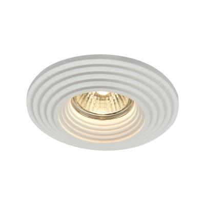 Встроенный светильник  Maytoni DL004-1-01-W GypsГипсовые<br><br><br>Тип лампы: галогенная/LED<br>Тип цоколя: GU10<br>Цвет арматуры: Белый<br>Количество ламп: 1<br>Диаметр, мм мм: 120<br>Высота, мм: 34<br>MAX мощность ламп, Вт: 35