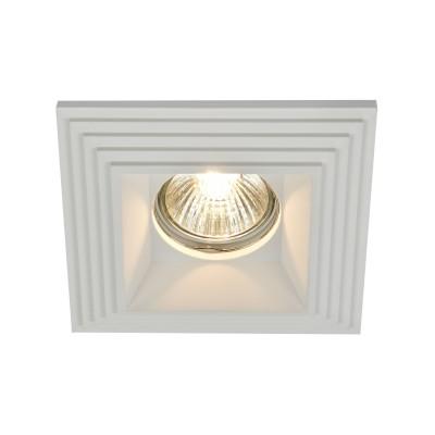 Встроенный светильник  Maytoni DL005-1-01-W GypsГипсовые<br><br><br>Тип лампы: галогенная/LED<br>Тип цоколя: GU10<br>Цвет арматуры: Белый<br>Количество ламп: 1<br>Ширина, мм: 122<br>Глубина, мм: 122<br>Высота, мм: 40<br>MAX мощность ламп, Вт: 35