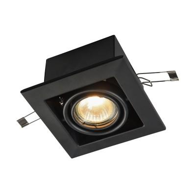 Встроенный светильник  Maytoni DL008-2-01-B MetalКарданные светильники<br><br><br>Тип лампы: галогенная/LED<br>Тип цоколя: GU10<br>Цвет арматуры: Черный<br>Количество ламп: 1<br>Диаметр, мм мм: 126<br>Высота, мм: 72<br>MAX мощность ламп, Вт: 50