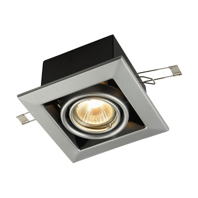 Встроенный светильник  Maytoni DL008-2-01-S MetalКарданные<br><br><br>Тип лампы: галогенная/LED<br>Тип цоколя: GU10<br>Цвет арматуры: Серебро<br>Количество ламп: 1<br>Диаметр, мм мм: 126<br>Высота, мм: 72<br>MAX мощность ламп, Вт: 50