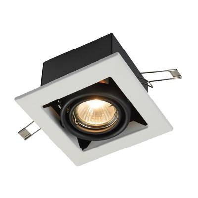 Встроенный светильник  Maytoni DL008-2-01-W MetalКарданные<br><br><br>Тип лампы: галогенная/LED<br>Тип цоколя: GU10<br>Цвет арматуры: Белый<br>Количество ламп: 1<br>Диаметр, мм мм: 126<br>Высота, мм: 72<br>MAX мощность ламп, Вт: 50