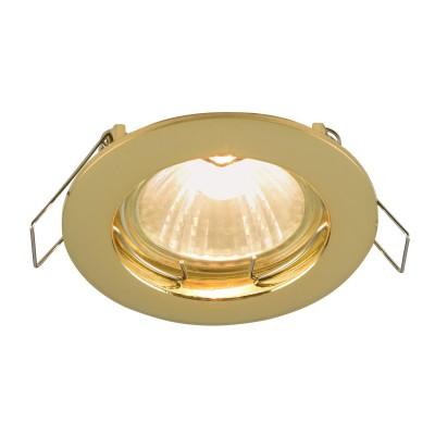 Встроенный светильник  Maytoni DL009-2-01-G MetalМеталлические потолочные светильники<br><br><br>Тип лампы: галогенная/LED<br>Тип цоколя: GU10<br>Цвет арматуры: золотой<br>Количество ламп: 1<br>Диаметр, мм мм: 78<br>Высота, мм: 24<br>MAX мощность ламп, Вт: 50
