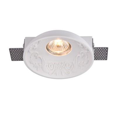 Встроенный светильник  Maytoni DL278-1-01-W GypsГипсовые точечные светильники<br><br><br>Тип лампы: галогенная/LED<br>Тип цоколя: GU10<br>Цвет арматуры: Белый<br>Количество ламп: 1<br>Диаметр, мм мм: 140<br>Высота, мм: 42<br>MAX мощность ламп, Вт: 35