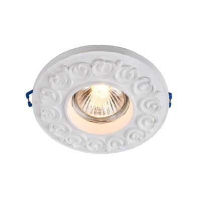 Встроенный светильник  Maytoni DL279-1-01-W GypsГипсовые<br><br><br>Тип лампы: галогенная/LED<br>Тип цоколя: GU10<br>Цвет арматуры: Белый<br>Количество ламп: 1<br>Диаметр, мм мм: 120<br>Высота, мм: 26<br>MAX мощность ламп, Вт: 35