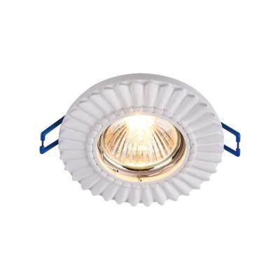 Встроенный светильник  Maytoni DL281-1-01-W GypsГипсовые точечные светильники<br><br><br>Тип лампы: галогенная/LED<br>Тип цоколя: GU10<br>Цвет арматуры: Белый<br>Количество ламп: 1<br>Диаметр, мм мм: 95<br>Высота, мм: 23<br>MAX мощность ламп, Вт: 35