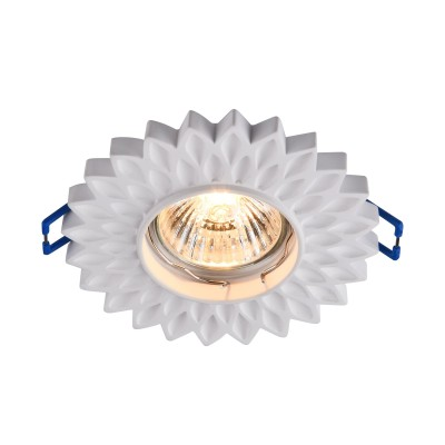 Встроенный светильник  Maytoni DL282-1-01-W GypsГипсовые<br><br><br>Тип лампы: галогенная/LED<br>Тип цоколя: GU10<br>Цвет арматуры: Белый<br>Количество ламп: 1<br>Диаметр, мм мм: 105<br>Высота, мм: 23<br>MAX мощность ламп, Вт: 35