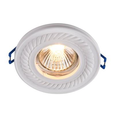 Встроенный светильник  Maytoni DL283-1-01-W GypsГипсовые точечные светильники<br><br><br>Тип лампы: галогенная/LED<br>Тип цоколя: GU10<br>Цвет арматуры: Белый<br>Количество ламп: 1<br>Диаметр, мм мм: 100<br>Высота, мм: 23<br>MAX мощность ламп, Вт: 35