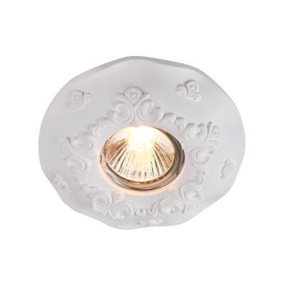 Встроенный светильник  Maytoni DL284-1-01-W GypsГипсовые точечные светильники<br><br><br>Тип лампы: галогенная/LED<br>Тип цоколя: GU10<br>Цвет арматуры: Белый<br>Количество ламп: 1<br>Диаметр, мм мм: 125<br>Высота, мм: 35<br>MAX мощность ламп, Вт: 35