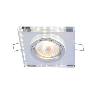 Встроенный светильник  Maytoni DL288-2-3W-W MetalСтеклянные<br><br><br>Тип лампы: галогенная/LED<br>Тип цоколя: GU10<br>Цвет арматуры: Белый<br>Количество ламп: 1<br>Диаметр, мм мм: 90<br>Высота, мм: 23<br>MAX мощность ламп, Вт: 50