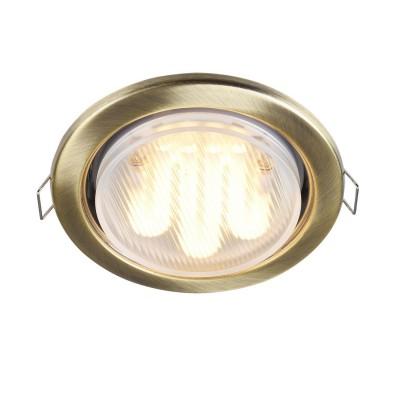 Встроенный светильник  Maytoni DL293-01-BZ MetalКруглые<br><br><br>Тип цоколя: GX53<br>Цвет арматуры: Латунь<br>Количество ламп: 1<br>Диаметр, мм мм: 107<br>Высота, мм: 44<br>MAX мощность ламп, Вт: 15