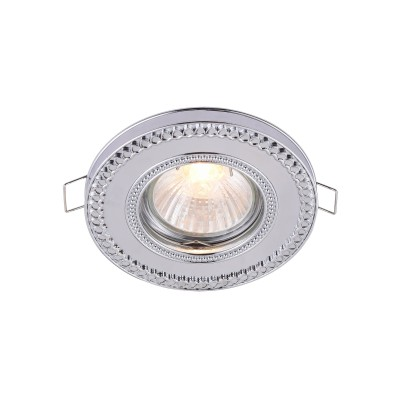 Встроенный светильник  Maytoni DL302-2-01-CH MetalМеталлические потолочные светильники<br><br><br>Тип лампы: галогенная/LED<br>Тип цоколя: GU10
