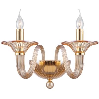 Светильник настенный бра Crystal lux DREAM AP2 1610/402современные бра модерн<br><br><br>Тип цоколя: E14<br>Цвет арматуры: Золотой/Янтарный<br>Количество ламп: 2<br>Ширина, мм: 310<br>Длина, мм: 450<br>Высота, мм: 315<br>MAX мощность ламп, Вт: 60