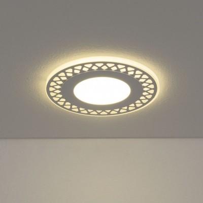 DSS003 10W 4200KКруглые встраиваемые светильники<br>Встраиваемый потолочный светодиодный светильник Downlight имеет контурную LED подсветку. Современная технология раздельного управления подсветкой и основным светом позволяет включать их независимо друг от друга. Три режима работы обеспечивают оптимальный вариант освещения: основной свет + подсветка, только основной свет или только подсветка.<br>Акриловый рассеиватель с декоративной металлической накладкой гарантирует равномерное распределение света. Легкий и прочный корпус без труда монтируется во все виды подвесных потолков.<br><br>Цветовая t, К: 4200<br>Тип лампы: LED<br>Тип цоколя: LED<br>Цвет арматуры: белая<br>Количество ламп: 30+48<br>Диаметр, мм мм: 160<br>Диаметр врезного отверстия, мм: 110<br>Высота, мм: 30<br>Поверхность арматуры: матовая<br>Оттенок (цвет): белый<br>MAX мощность ламп, Вт: 7+3 ВТ