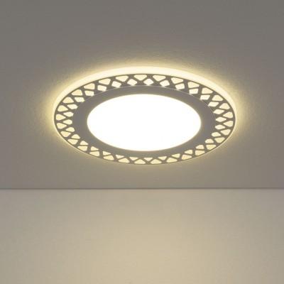 Светильник Downlight Электростандарт DSS003 18W 4200Kкруглые встраиваемые светильники<br>Встраиваемый потолочный светодиодный светильник Downlight имеет контурную LED подсветку. Современная технология раздельного управления подсветкой и основным светом позволяет включать их независимо друг от друга. Три режима работы обеспечивают оптимальный вариант освещения: основной свет + подсветка, только основной свет или только подсветка.<br>Акриловый рассеиватель с декоративной металлической накладкой гарантирует равномерное распределение света. Легкий и прочный корпус без труда монтируется во все виды подвесных потолков.