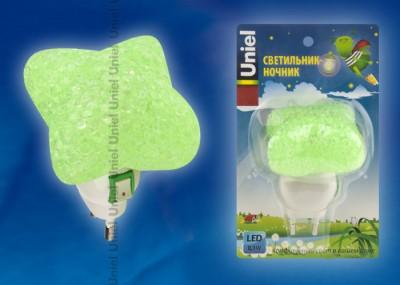 UNIEL DTL-309 Звездочка/GREEN/1LED/0,1W Светильник-ночник.Ночники<br><br>