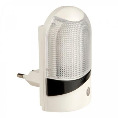 Ночник с фотосенсором UNIEL DTL-310-Селена/White/4LED/0.5WНочники<br>Светильник ночник С фотосенсором (день/ночь) UNIEL DTL-310-Селена/White/4LED/0.5W<br><br>Тип лампы: LED<br>Тип цоколя: LED<br>MAX мощность ламп, Вт: 0,5<br>Цвет арматуры: белый