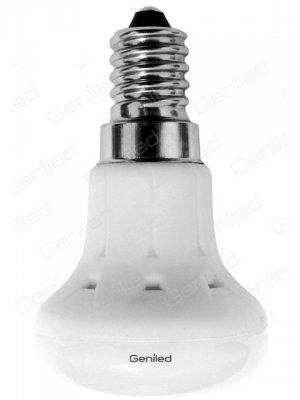 Светодиодная лампа Geniled Е14 R39 5W 2700KЗеркальные E27, E14<br>В интернет-магазине «Светодом» можно купить не только люстры и светильники, но и лампочки. В нашем каталоге представлены светодиодные, галогенные, энергосберегающие модели и лампы накаливания. В ассортименте имеются изделия разной мощности, поэтому у нас Вы сможете приобрести все необходимое для освещения.   Лампа Geniled Geniled 1175 обеспечит отличное качество освещения. При покупке ознакомьтесь с параметрами в разделе «Характеристики», чтобы не ошибиться в выборе. Там же указано, для каких осветительных приборов Вы можете использовать лампу Geniled Geniled 1175Geniled Geniled 1175.   Для оформления покупки воспользуйтесь «Корзиной». При наличии вопросов Вы можете позвонить нашим менеджерам по одному из контактных номеров. Мы доставляем заказы в Москву, Екатеринбург и другие города России.<br><br>Цветовая t, К: WW - теплый белый 2700-3000 К<br>Тип лампы: LED - светодиодная<br>Тип цоколя: E14<br>MAX мощность ламп, Вт: 5<br>Диаметр, мм мм: 39<br>Высота, мм: 66