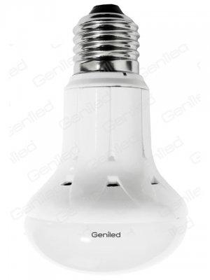 Светодиодная лампа Geniled Е27 R63 11W 4200KЗеркальные E27, E14<br>В интернет-магазине «Светодом» можно купить не только люстры и светильники, но и лампочки. В нашем каталоге представлены светодиодные, галогенные, энергосберегающие модели и лампы накаливания. В ассортименте имеются изделия разной мощности, поэтому у нас Вы сможете приобрести все необходимое для освещения.   Лампа Geniled Geniled 1167 обеспечит отличное качество освещения. При покупке ознакомьтесь с параметрами в разделе «Характеристики», чтобы не ошибиться в выборе. Там же указано, для каких осветительных приборов Вы можете использовать лампу Geniled Geniled 1167Geniled Geniled 1167.   Для оформления покупки воспользуйтесь «Корзиной». При наличии вопросов Вы можете позвонить нашим менеджерам по одному из контактных номеров. Мы доставляем заказы в Москву, Екатеринбург и другие города России.<br><br>Цветовая t, К: CW - холодный белый 4000 К<br>Тип лампы: LED - светодиодная<br>Тип цоколя: E27<br>Диаметр, мм мм: 63<br>Высота, мм: 105<br>MAX мощность ламп, Вт: 11