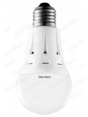 Светодиодная лампа Geniled Е27 А60 7W 2700KСтандартный вид<br>В интернет-магазине «Светодом» можно купить не только люстры и светильники, но и лампочки. В нашем каталоге представлены светодиодные, галогенные, энергосберегающие модели и лампы накаливания. В ассортименте имеются изделия разной мощности, поэтому у нас Вы сможете приобрести все необходимое для освещения.   Лампа Geniled Geniled 1188 обеспечит отличное качество освещения. При покупке ознакомьтесь с параметрами в разделе «Характеристики», чтобы не ошибиться в выборе. Там же указано, для каких осветительных приборов Вы можете использовать лампу Geniled Geniled 1188Geniled Geniled 1188.   Для оформления покупки воспользуйтесь «Корзиной». При наличии вопросов Вы можете позвонить нашим менеджерам по одному из контактных номеров. Мы доставляем заказы в Москву, Екатеринбург и другие города России.<br><br>Цветовая t, К: WW - теплый белый 2700-3000 К<br>Тип лампы: LED - светодиодная<br>Тип цоколя: E27<br>MAX мощность ламп, Вт: 7<br>Диаметр, мм мм: 60<br>Высота, мм: 109