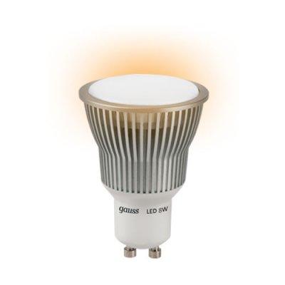 Лампа Gauss LED GU10 8W SMD AC220-240V 2700K ЕВ101106108Зеркальные Gu10<br>В интернет-магазине «Светодом» можно купить не только люстры и светильники, но и лампочки. В нашем каталоге представлены светодиодные, галогенные, энергосберегающие модели и лампы накаливания. В ассортименте имеются изделия разной мощности, поэтому у нас Вы сможете приобрести все необходимое для освещения.   Лампа Gauss EB101106108 обеспечит отличное качество освещения. При покупке ознакомьтесь с параметрами в разделе «Характеристики», чтобы не ошибиться в выборе. Там же указано, для каких осветительных приборов Вы можете использовать лампу Gauss EB101106108Gauss EB101106108.   Для оформления покупки воспользуйтесь «Корзиной». При наличии вопросов Вы можете позвонить нашим менеджерам по одному из контактных номеров. Мы доставляем заказы в Москву, Екатеринбург и другие города России.<br><br>Тип лампы: LED - светодиодная<br>Тип цоколя: GU10<br>Диаметр, мм мм: 50<br>Высота, мм: 71<br>MAX мощность ламп, Вт: 8