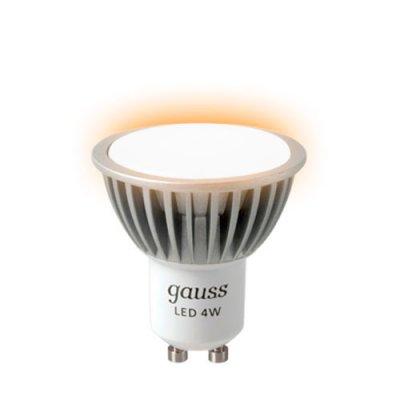 Лампа Gauss LED MR16 4W SMD AC220-240V GU10 4100K ЕВ101506204 FROSTЗеркальные Gu10<br><br><br>Тип лампы: LED - светодиодная<br>Тип цоколя: GU10<br>MAX мощность ламп, Вт: 4