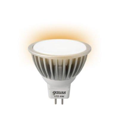 Лампа Gauss Led MR16 4W GU5.3 220V 4100K ЕB101505204 (= 40W)Снято с производства<br>Артикул:ЕB101505204  Производитель:Gauss  Свет:Мягкий теплый свет 4100К  Размер:50*56мм  Время работы:50000 часов  Гарантия:3 года  Кол-во в упаковке:1/10/100  Напряжение:AC100-240V  Радиатор:алюминий  Тип:4W SMD LED  Цоколь:gu5.3<br><br>Тип товара: лампа светодиодная LED<br>Цветовая t, К: CW - холодный белый 4000 К<br>Тип лампы: LED - светодиодная<br>Тип цоколя: GU5.3 (MR16)<br>MAX мощность ламп, Вт: 4<br>Диаметр, мм мм: 50<br>Высота, мм: 53<br>Цвет арматуры: алюминиевый радиатор