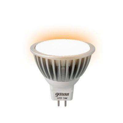 Лампа Gauss LED MR16 GU5.3 5W 12V 4100KЗеркальные MR16 - 5.3<br>В интернет-магазине «Светодом» можно купить не только люстры и светильники, но и лампочки. В нашем каталоге представлены светодиодные, галогенные, энергосберегающие модели и лампы накаливания. В ассортименте имеются изделия разной мощности, поэтому у нас Вы сможете приобрести все необходимое для освещения.   Лампа Gauss EB201505205 обеспечит отличное качество освещения. При покупке ознакомьтесь с параметрами в разделе «Характеристики», чтобы не ошибиться в выборе. Там же указано, для каких осветительных приборов Вы можете использовать лампу Gauss EB201505205Gauss EB201505205.   Для оформления покупки воспользуйтесь «Корзиной». При наличии вопросов Вы можете позвонить нашим менеджерам по одному из контактных номеров. Мы доставляем заказы в Москву, Екатеринбург и другие города России.<br><br>Тип лампы: LED - светодиодная<br>Тип цоколя: G5.3 (GU5.3, MR16)<br>MAX мощность ламп, Вт: 5