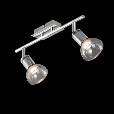 Светильник Maytoni ECO003-02-NДвойные<br><br><br>Тип товара: Светильник поворотный спот<br>Тип лампы: LED<br>Тип цоколя: LED<br>Количество ламп: 2<br>Ширина, мм: 196<br>MAX мощность ламп, Вт: 4<br>Длина, мм: 394<br>Высота, мм: 150<br>Цвет арматуры: серебристый