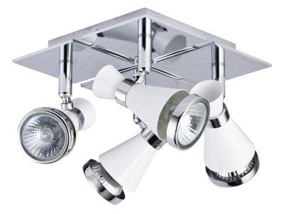 Светильинк поворотный спот Maytoni ECO007-04-W Chance - BlackС 4 лампами<br>Светильники-споты – это оригинальные изделия с современным дизайном. Они позволяют не ограничивать свою фантазию при выборе освещения для интерьера. Такие модели обеспечивают достаточно качественный свет. Благодаря компактным размерам Вы можете использовать несколько спотов для одного помещения.  Интернет-магазин «Светодом» предлагает необычный светильник-спот Maytoni ECO007-04-W по привлекательной цене. Эта модель станет отличным дополнением к люстре, выполненной в том же стиле. Перед оформлением заказа изучите характеристики изделия.  Купить светильник-спот Maytoni ECO007-04-W в нашем онлайн-магазине Вы можете либо с помощью формы на сайте, либо по указанным выше телефонам. Обратите внимание, что у нас склады не только в Москве и Екатеринбурге, но и других городах России.<br><br>Тип цоколя: GU10<br>Количество ламп: 4<br>Ширина, мм: 180<br>MAX мощность ламп, Вт: 50<br>Глубина, мм: 260<br>Высота, мм: 108