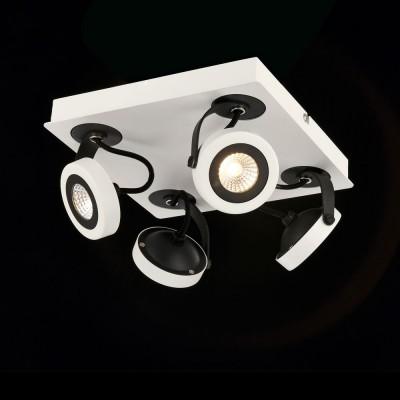 Спот Maytoni ECO161-04-W Magnetar 1споты 4 лампы<br><br><br>S освещ. до, м2: 8<br>Тип лампы: LED<br>Тип цоколя: LED<br>Цвет арматуры: Белый<br>Количество ламп: 4<br>Ширина, мм: 210<br>Длина, мм: 210<br>Высота, мм: 94<br>MAX мощность ламп, Вт: 5