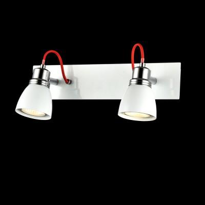 Спот Maytoni SP851-CW-02-W QuasarДвойные<br><br><br>S освещ. до, м2: 5<br>Тип лампы: галогенная/LED<br>Тип цоколя: GU10<br>Цвет арматуры: Белый<br>Количество ламп: 2<br>Ширина, мм: 345<br>Расстояние от стены, мм: 65<br>Высота, мм: 105<br>MAX мощность ламп, Вт: 50